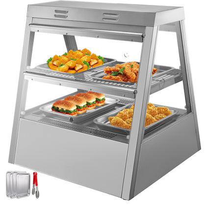2 Tiers Commercial Food Warmer Cabinet 27