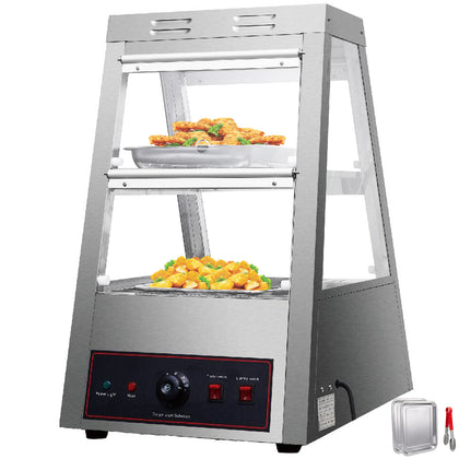 2 Tiers Commercial Food Warmer Cabinet 16