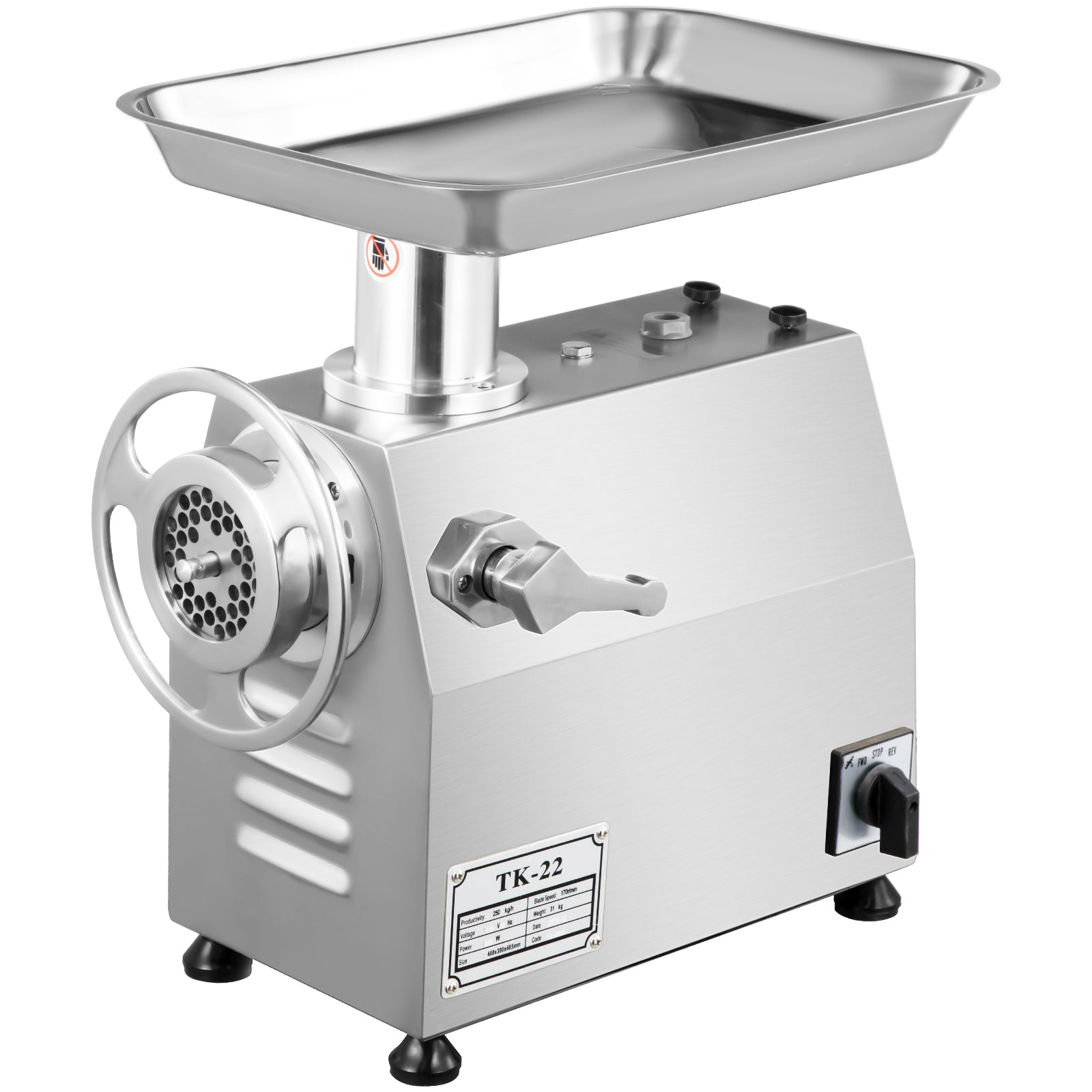 Heavy Duty Stainless Steel Electric Meat Grinder/stuffer 550lbs/hr