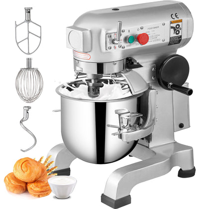 10qt Electric Food Stand Mixer Dough Mixer 450w Stainless Steel Bowl Bread