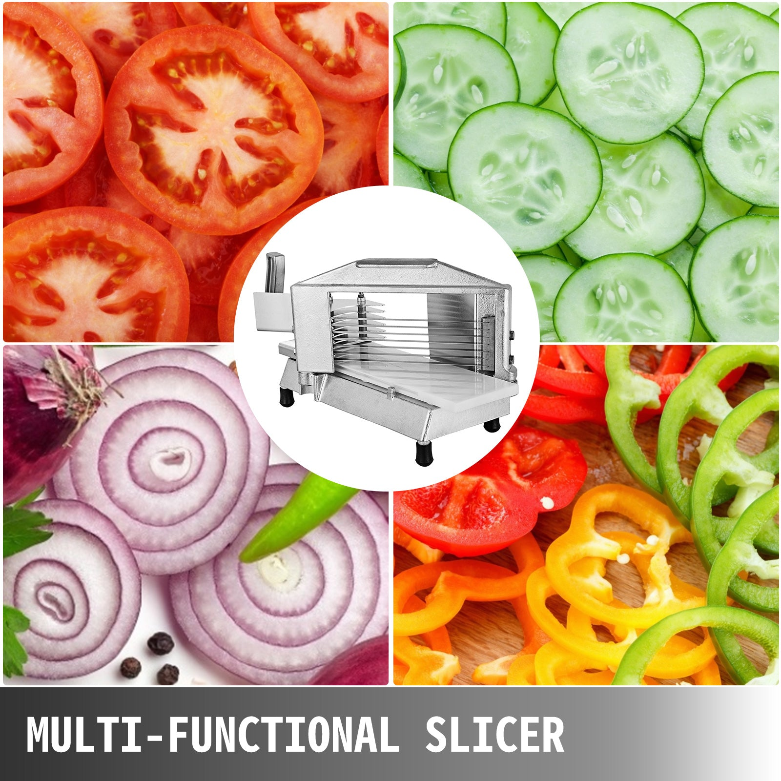 "Commercial Fruit Tomato Slicer 3/8""cutting Machine Vegetable Restaurant Chopper"