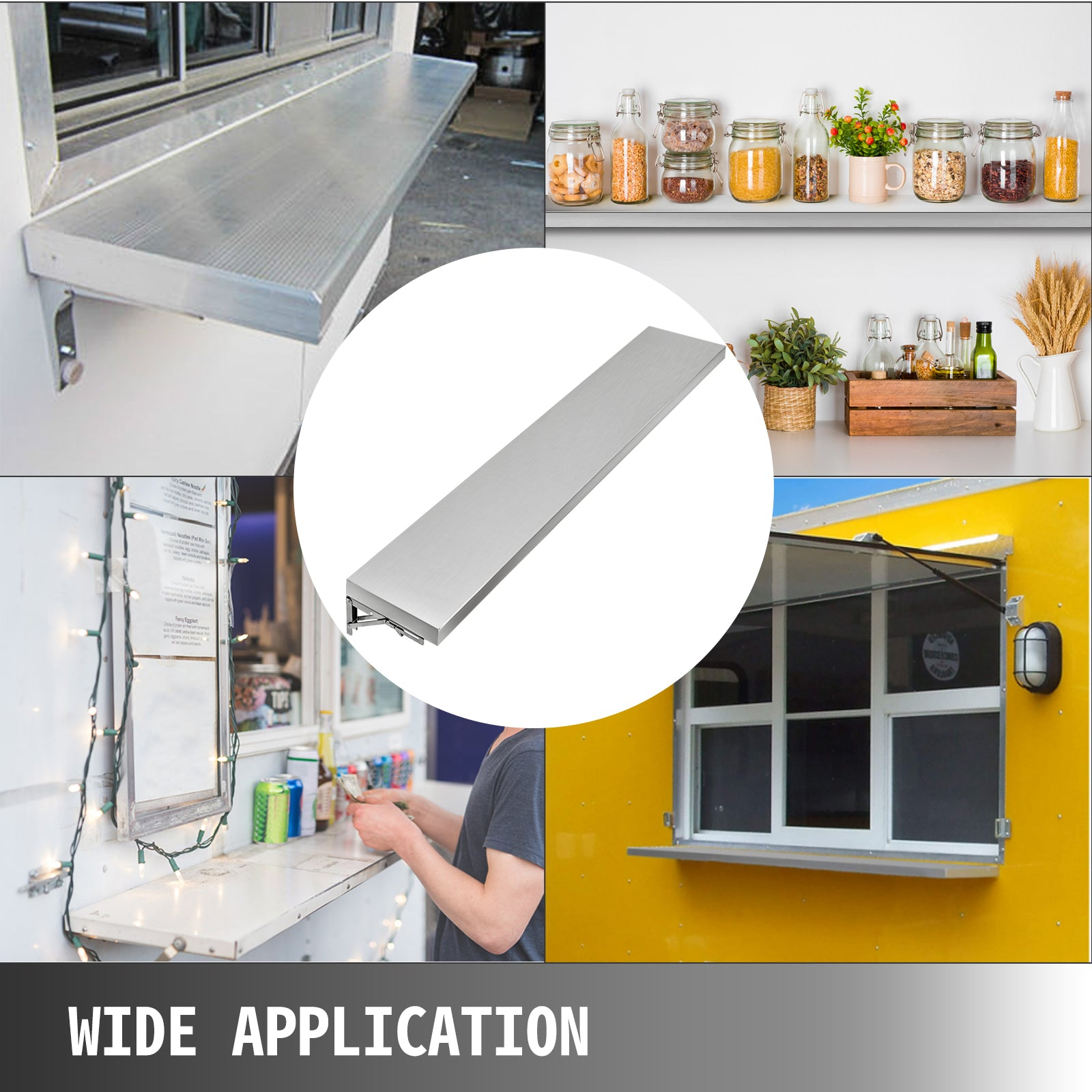 Concession Stand Shelf For Window 6 Ft Food Truck Accessories Tabletop Business