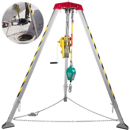 Confined Space Tripod Safety Tripod With 1800lbs Winch Rescue Tripod 8ft Legs