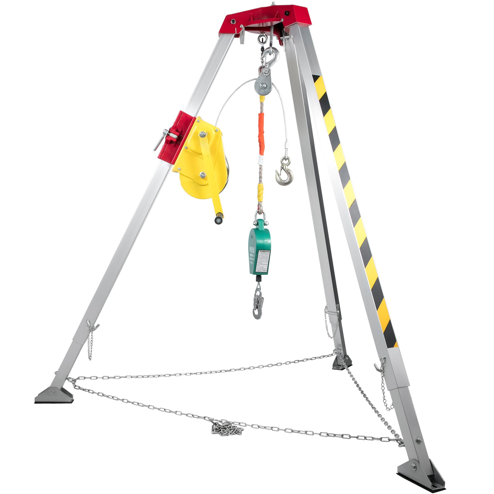 Confined Space Tripod Safety Tripod With 2600lbs Winch Rescue Tripod 8ft Legs