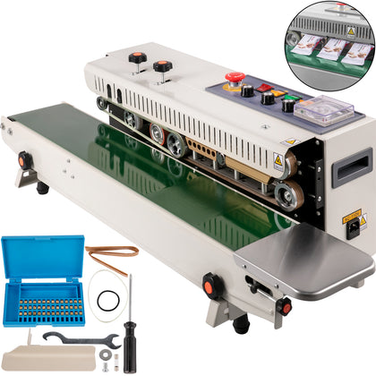 Automatic Horizontal Continuous Plastic Bag Band Sealing Sealer Machine Fr1000