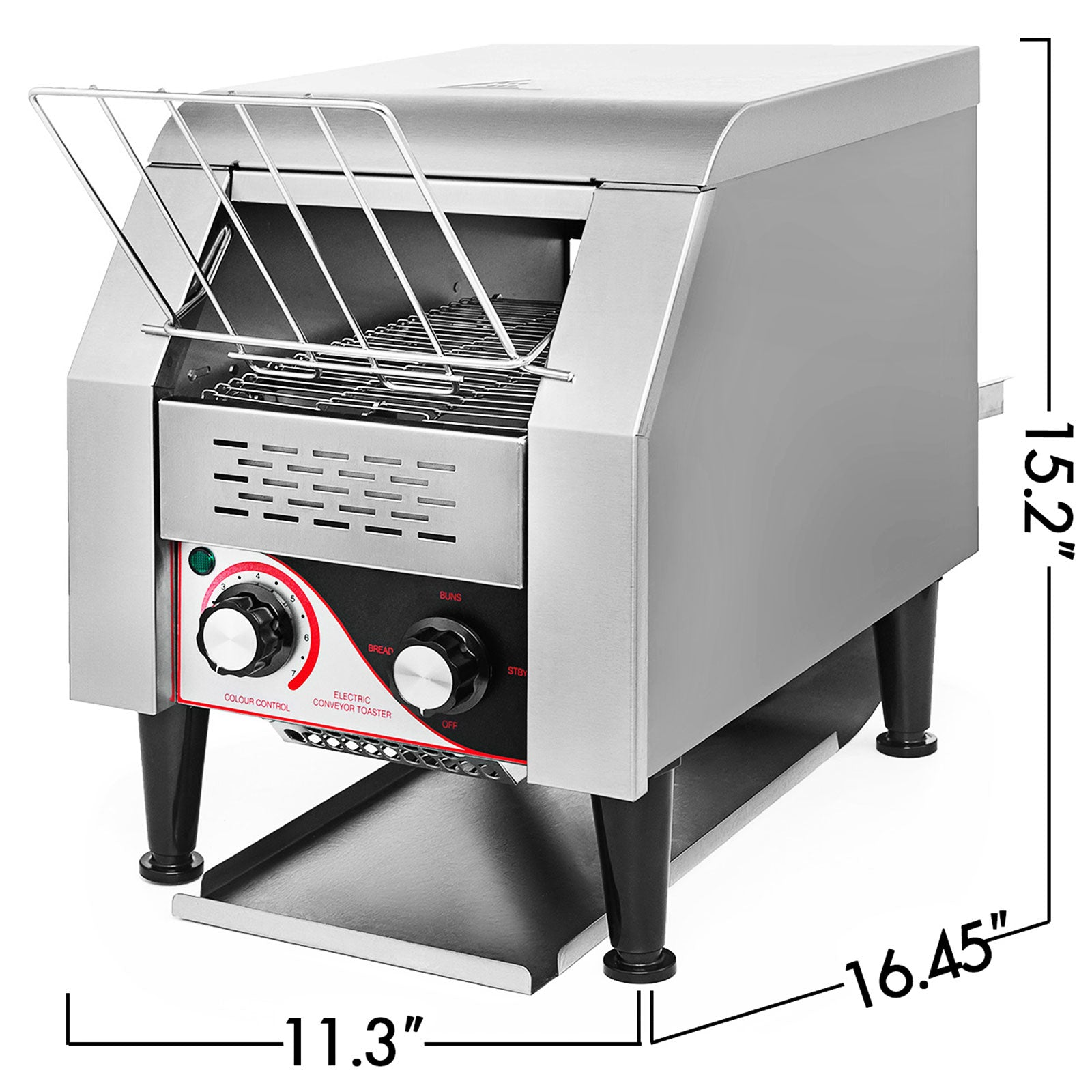 Commercial Conveyor Toaster 150pcs/h Electric Conveyor Toaster Stainless Steel