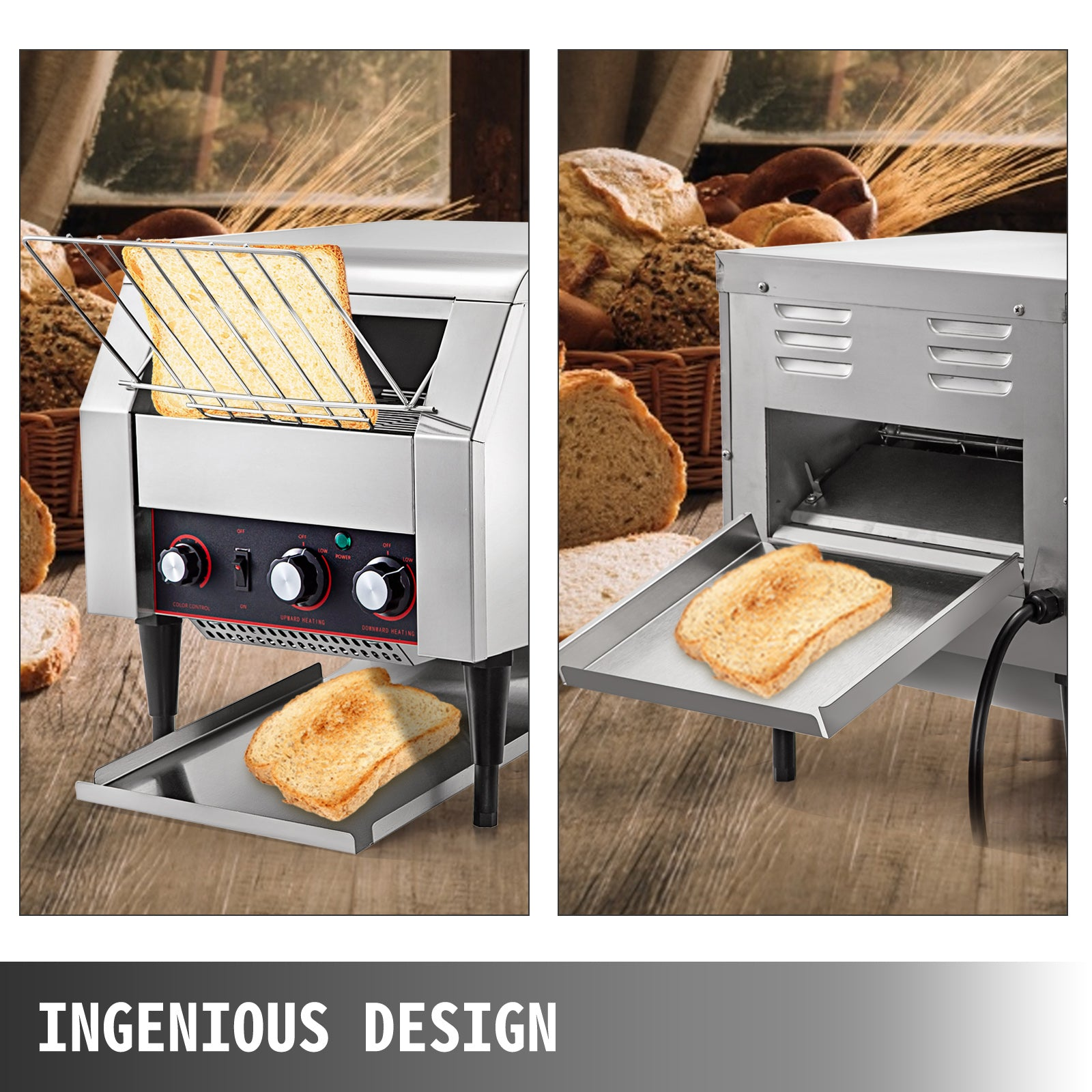 Electric Conveyor Toaster 2600w Adjustable Speed 110v Strong Packing Pro On Sale