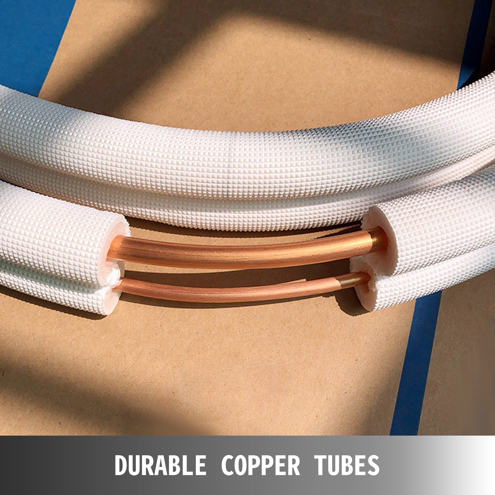 Copper Ductless Mini Split Line Connection Accessory Kit, 3/8''-5/8''-25 Ft