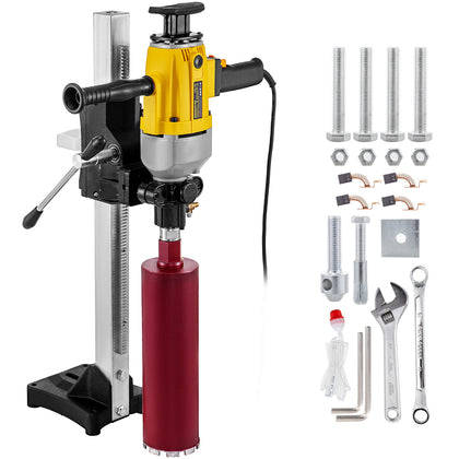 Core Drill Machine Core Drill Rig 2460w Rugged Diamond Concrete Core Drill 110v
