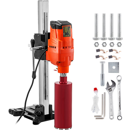 Core Drill Machine Core Drill Rig 4800w Concrete Core Drill 305mm 45-degree Base