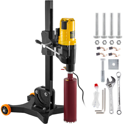 Core Drill Machine Core Drill Rig, 4800w Diamond Core Drill, With Wheels, 110v