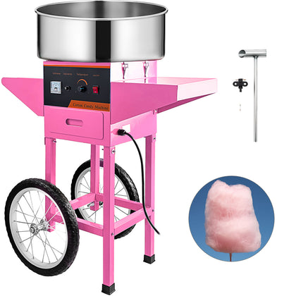 Electric Cotton Candy Maker With Cart Commercial Festival Sugar Floss Machine