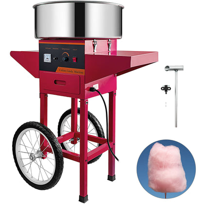 Commercial Red Cotton Candy Machine Party Carnival Sugar Floss Maker W/cart