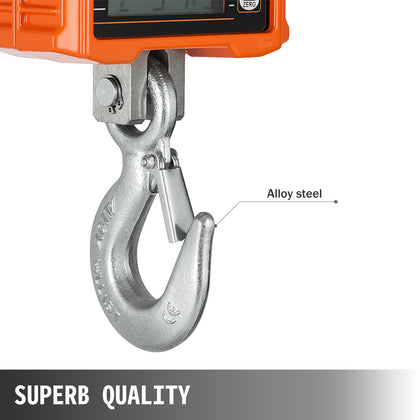 Hanging Scale Crane Scale 1000 Kg 2000 Lb Digital Industrial Heavy Duty Auto Off