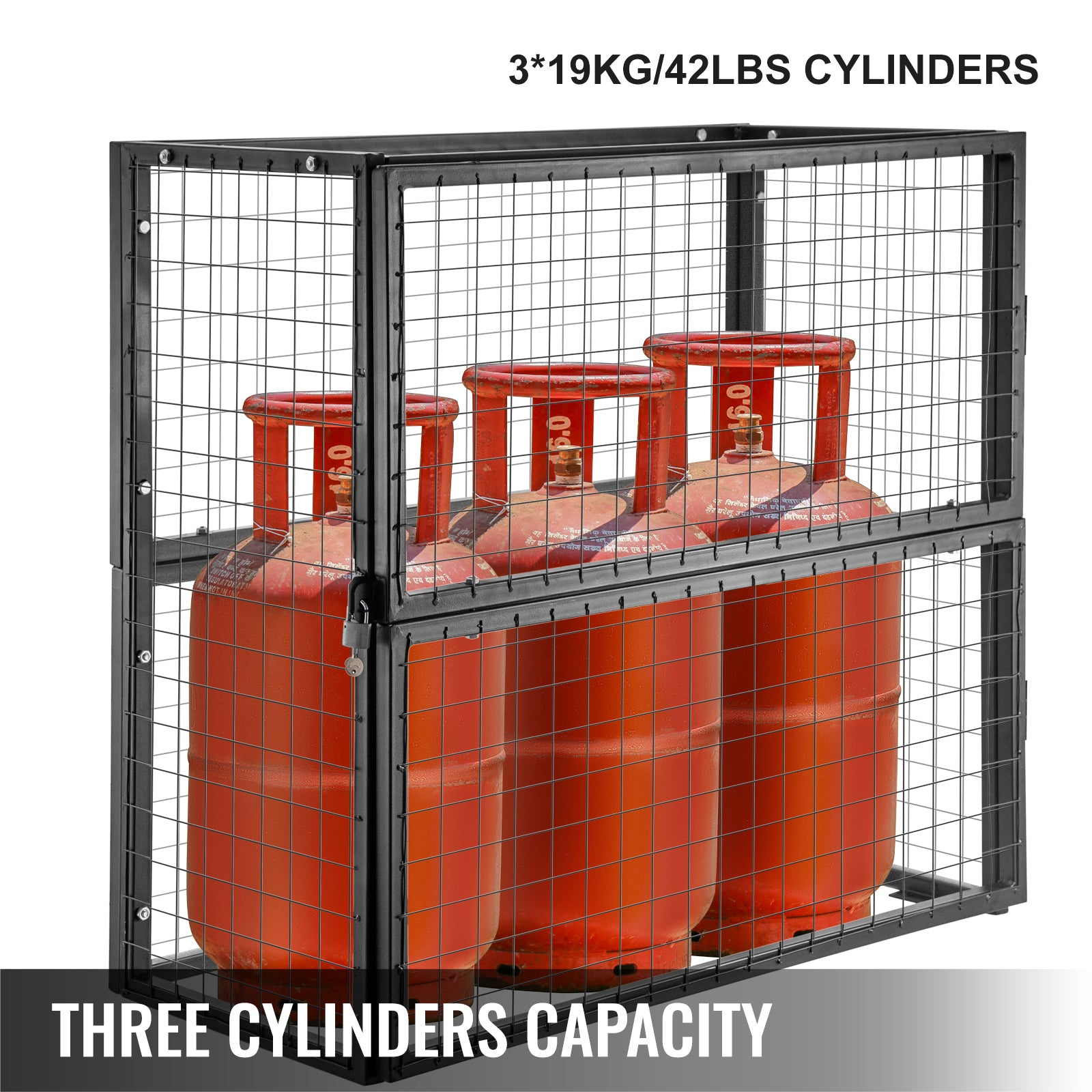 Vevor Gas Cylinder Security Storage Cabinet 39''x20''x37'', For 42lb Cylinders