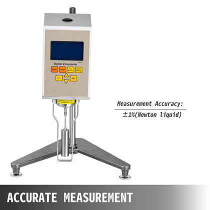 Ndj5s Rotary Viscometer Viscosity Tester Meter Fluidimeter Rotor Selection
