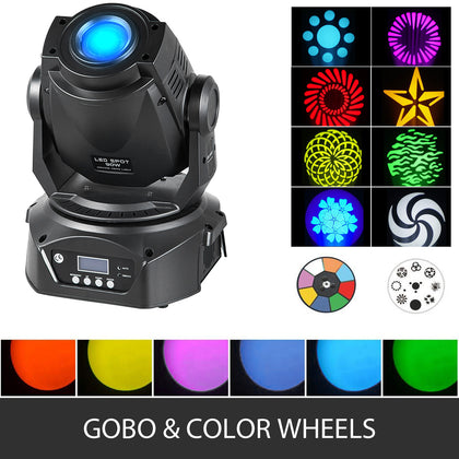 Moving Head Light Dj Lights 90w Led Stage Gobo Lighting For Disco Ktv Club Party