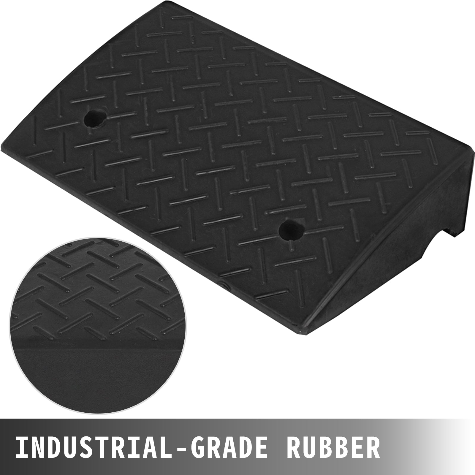 15400lb Rubber Curb Ramp 19''x12.6''x5'' Large Capacity Durable Warehouse