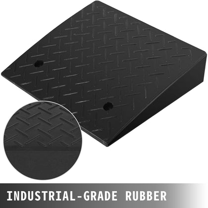17000lb Rubber Curb Ramp Threshold Ramp 19x15.7x4 Rubber Truck Skid Resistance