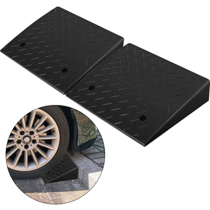 Rubber Threshold Ramp Curb Ramp 2 Pack 19''x16.7''x4.1'' Ramp Set 4.1'' Durable