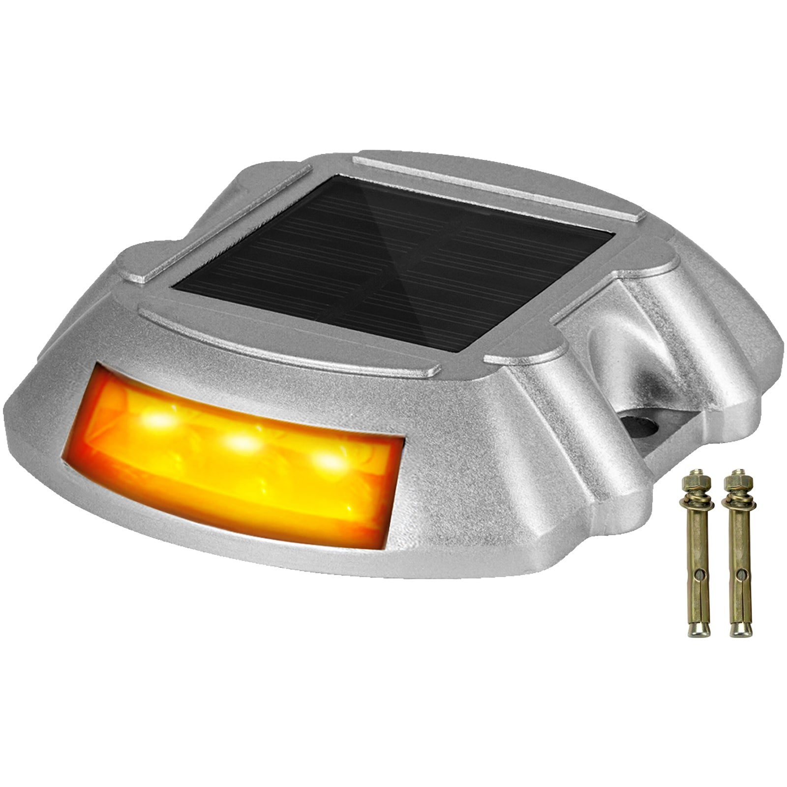 Driveway Lights, Solar Driveway Lights 1-pack, Dock Lights With Switch In Orange