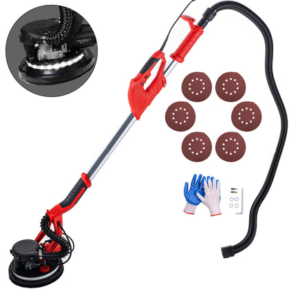 Drywall Sander 850w 225mm Extendable Handle 5 Variable Speed W/ Led Strip Light