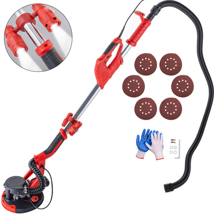 Drywall Sander 850w Extendable Wall Grinding Automatic Vacuum System, Led Lights