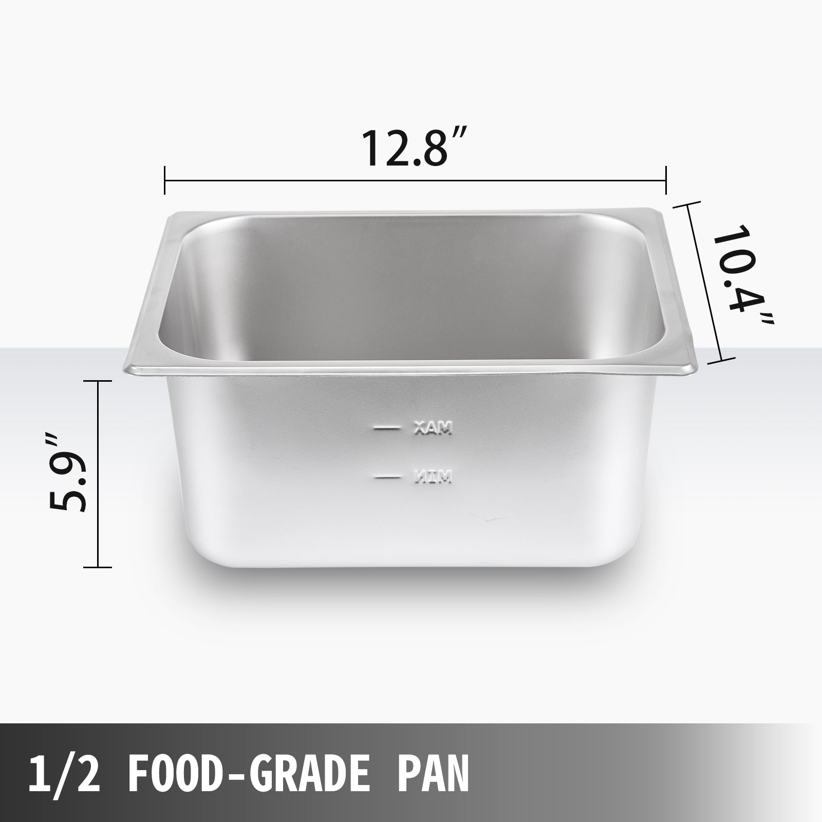 Bain Marie Food Warmer, Commercial Food Steam Table, 3 Pans, With Glass Shield
