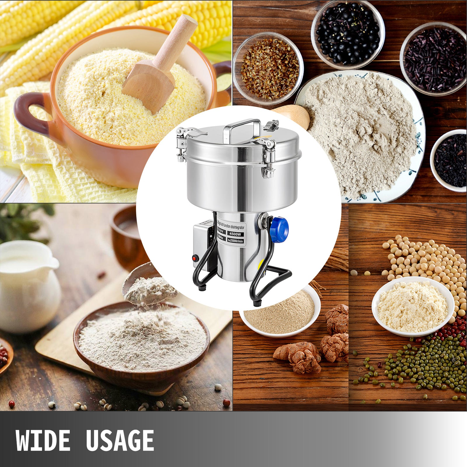 Grinding Machine For Grain Electric Grain Grinder 2500g, Powder Grinding Machine