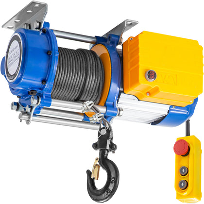 Vevor 3300lbs Electric Hoist Winch Lifting Engine Crane Lift Hook W/ Remote
