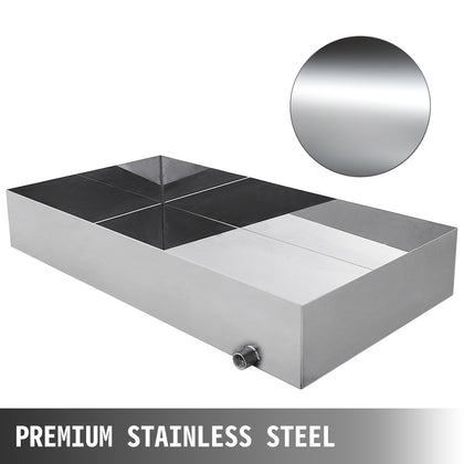 Stainless Steel Boiling Pan 18x34x6 Maple Syrup Heavy Duty Square Pan Metal
