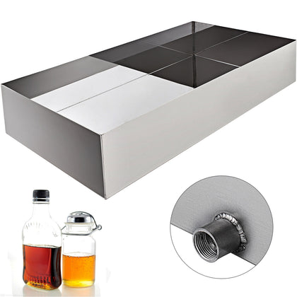 Maple Syrup Boiling Pan 18x24x6 High Grade 304 Stainless Steel Sap Boiling Home