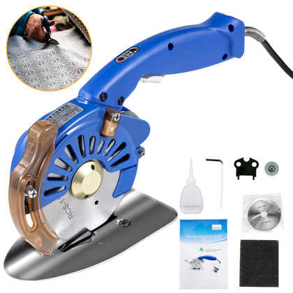 Fabric Cutter Rotary Fabric Cutter 110mm Blue Electric Rotary Cutter For Leather