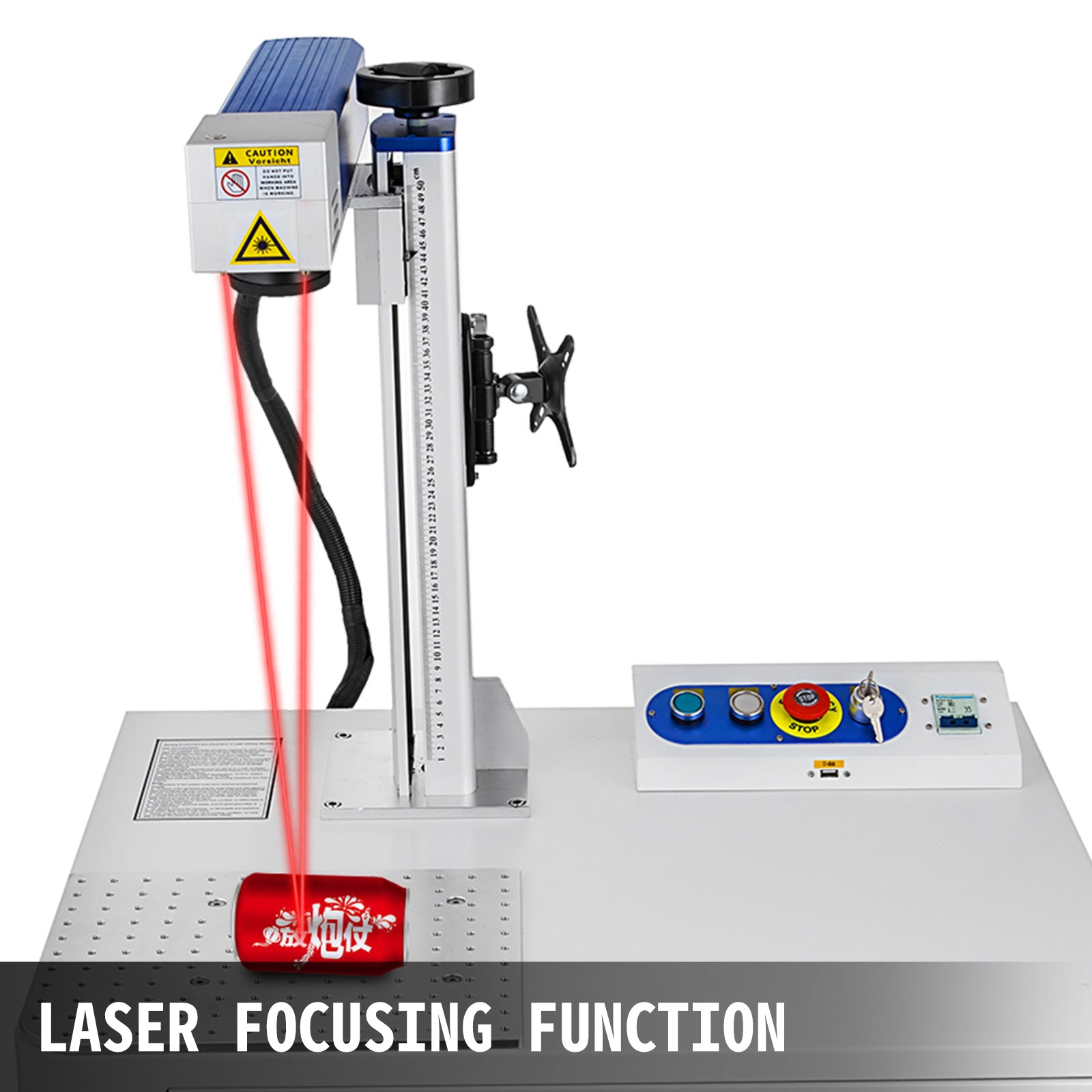 20w Fiber Laser Marking Machine 150*150mm Desktop Laser Focus Marking Printing