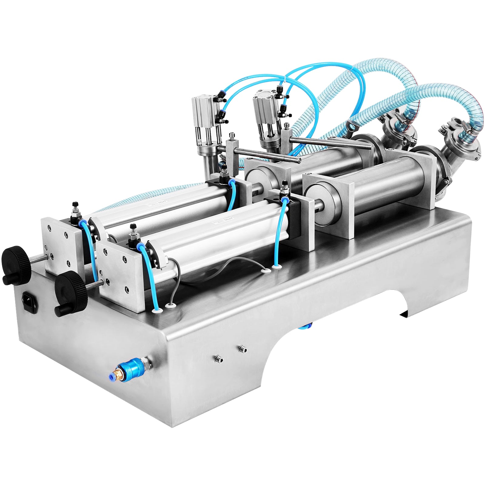 Two Heads Pneumatic Liquid Filling Machine 100-1000ml Shampoo Pressure Sealing