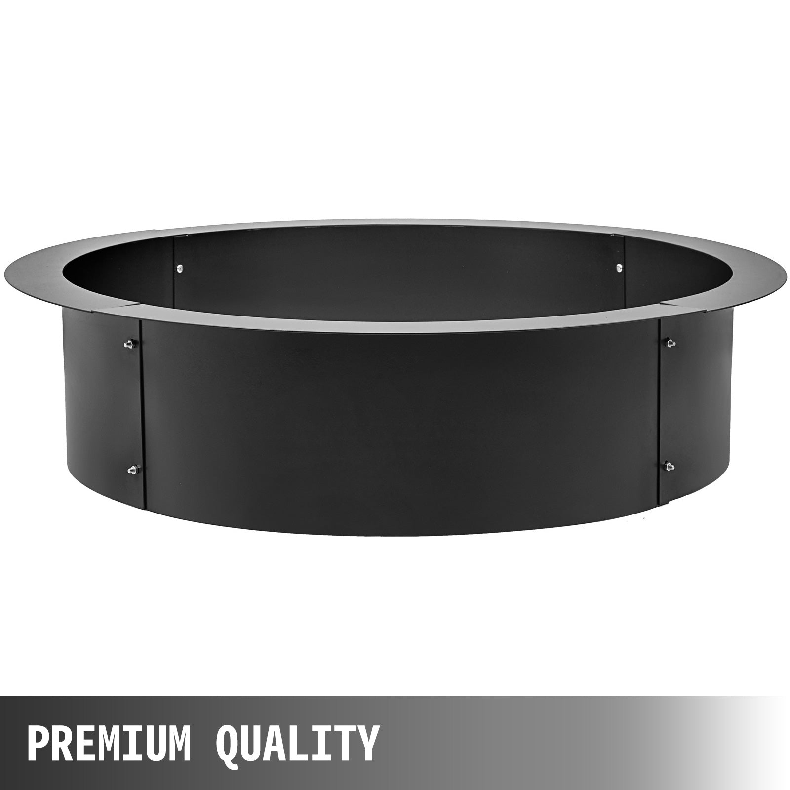 "42"" Diameter Steel Fire Pit Liner Ring Heavy Duty In-ground"