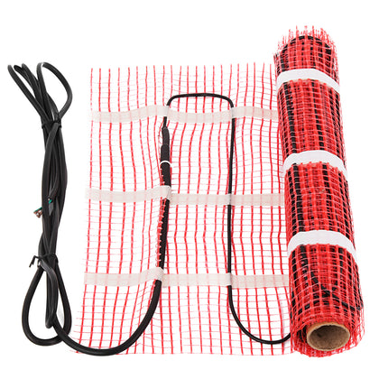 15 Sqft Electric Under Floor Heating Mat Radiant Warm System Self-adhesive Mat