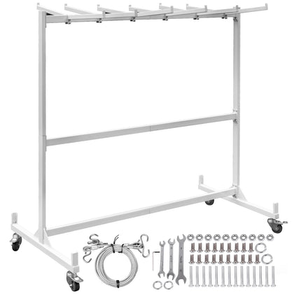 Folding Chair Rack Dolly Cart W/locking Casters Max 42 Chairs 12 Tables Hanging