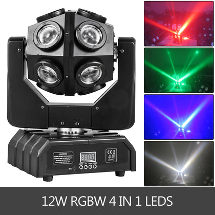 12x12w Rgbw Moving Head Ball Stage Light 4 In1 Led Beam Light Show Effect Dj Bar
