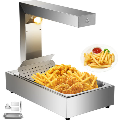 Commercial Dump Station Heat Lamp Food Warmer Infrared Fry Warmer Freestanding