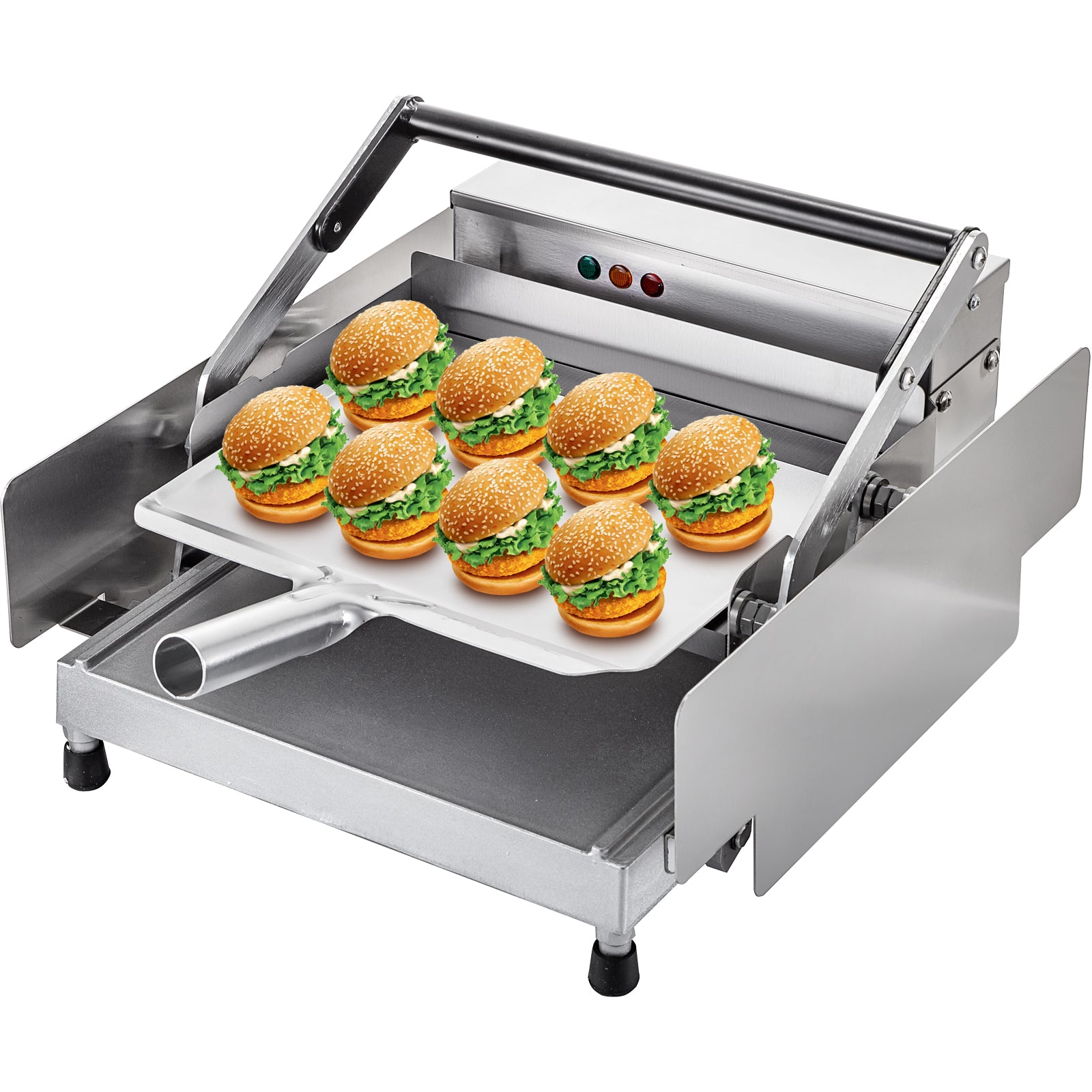 Hamburger Bun Toaster Bun Toaster Commercial Double-plates For 6 Hamburgers