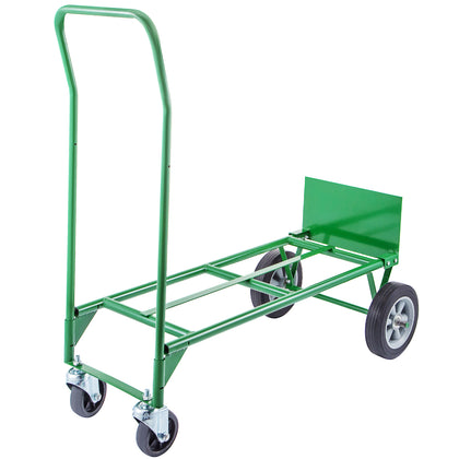 Hand Truck Convertible Dolly 300lb W/ 8inch Plastic Core Wheels In Green