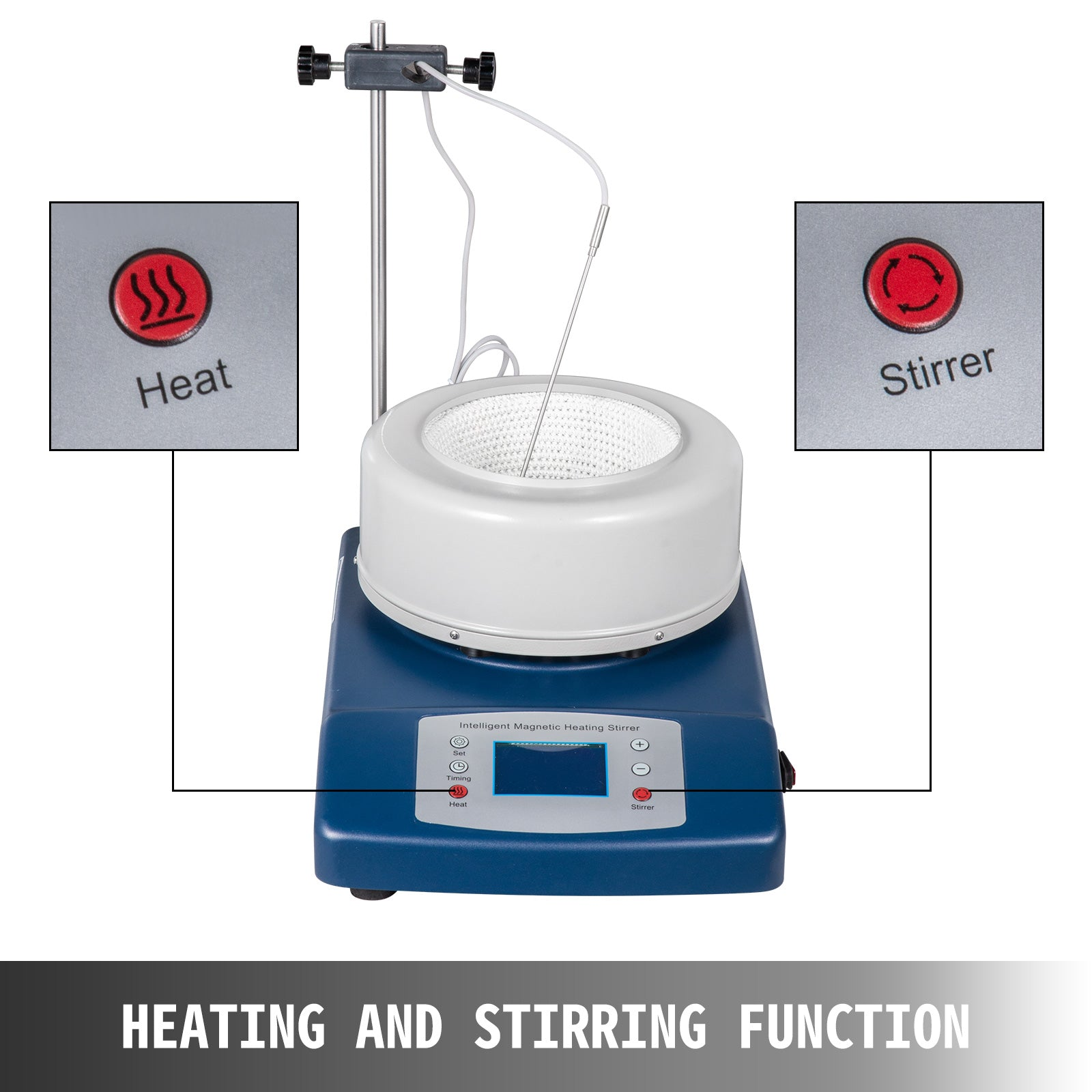 Magnetic Stirring Water Bath Oil Bath Digital 2000ml 0~2500rpm 380°c 650w110v