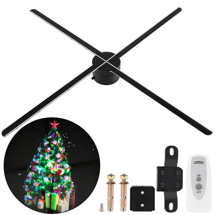 Vevor 65cm 3d Holographic Fan 768 Led Beads Wifi Hologram Advertising Projector