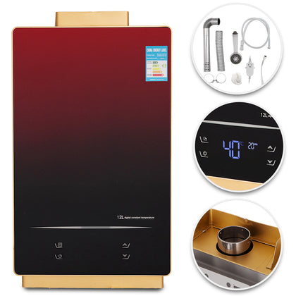 Tankless Hot Water Heater 12l Natural Gas Instant On-demand Boiler Touch Screen