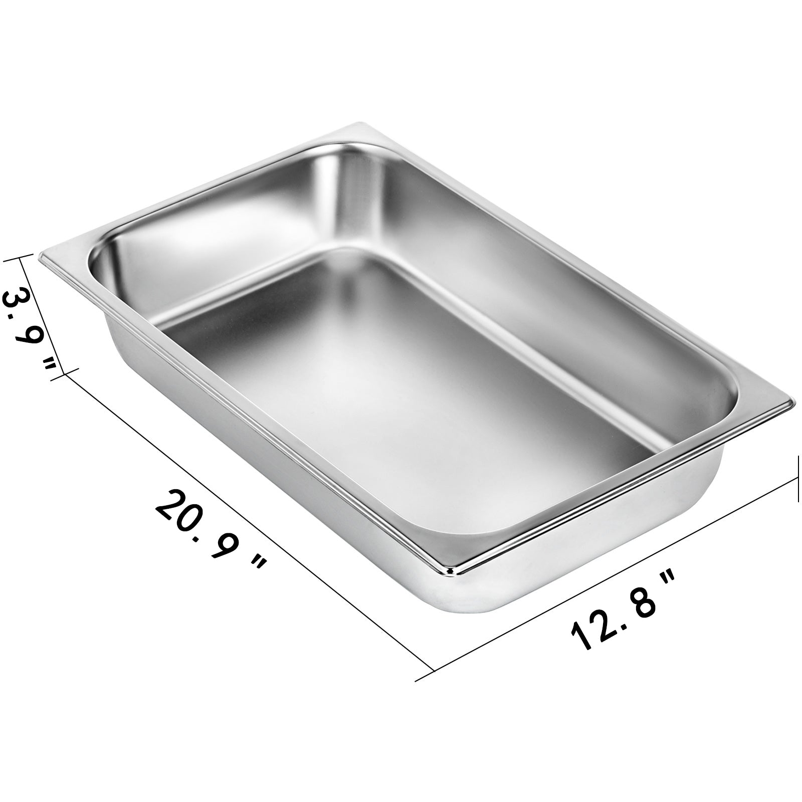 Steam Table Pans Bain-marie 6 Pack Catering Hotel Buffet Pans Buffet Food Pan