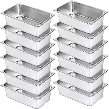 Steam Table Pans Bain Marie 12 Pack Prep Food Table Pan Table Food Pan 6