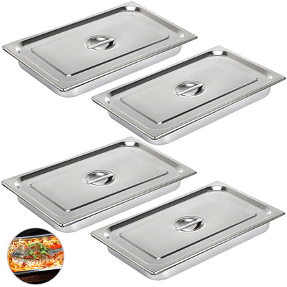 Steam Table Pans Bain-marie 4 Pack Hotel Buffet Pans Buffet Restaurant 4