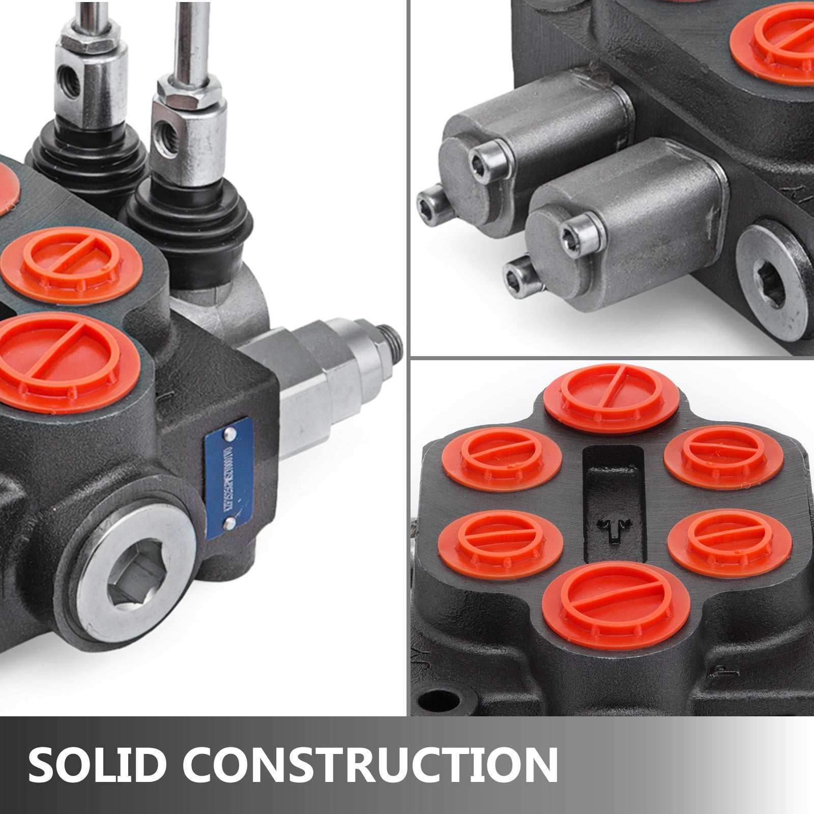 Hydraulic Control Valve, 2 Spool, 25 Gpm, Double Acting, Hydraulic Valve, 9-6702