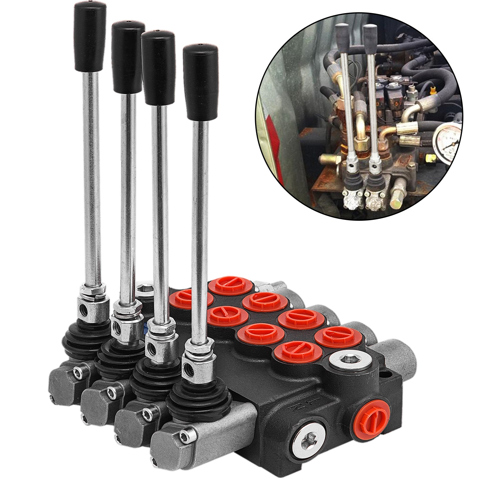 4 Spool Hydraulic Directional Control Valve 11gpm Motors Log Splitters 40l/min